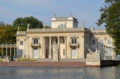 lazienki宫殿华沙 免版税图库摄影