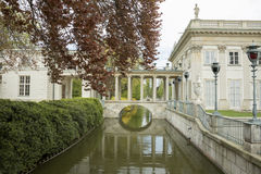 Lazienki宫殿,华沙 免版税库存照片