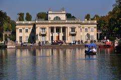 Lazienki königlicher Park in Warschau stockbild