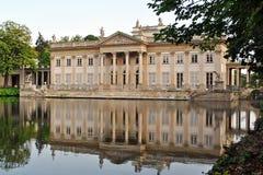 Lazienki pałac na wyspie - Warszawa Zdjęcie Royalty Free