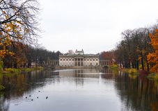 Lazienki Palace. In Warsaw, Poland during Autumn royalty free stock images