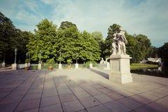 The Lazienki palace in Lazienki Park, Warsaw. Lazienki Krolewski Stock Image