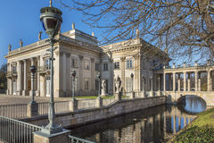 The Lazienki palace in Lazienki Park, Warsaw. Royalty Free Stock Photography