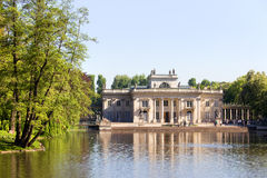 Lazienki Palace in Warsaw. Palace on the Water, also called Lazienki Palace or Palace on the Isle in Lazienki Royal Park, Warsaw, Poland, composition with stock photo