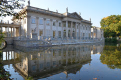 Lazienki Palace in Warsaw Royalty Free Stock Images
