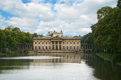 The Lazienki Palace. On the Water, Warsaw, Poland Royalty Free Stock Photo
