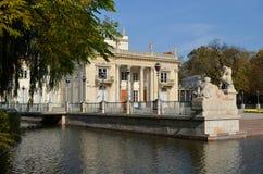Lazienki Palast in Warschau Stockbild