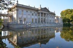 Lazienki Palast in Warschau Lizenzfreie Stockbilder
