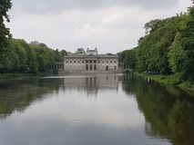 Lazienki Park. Palace on the Water in Lazienki Park, Warsaw royalty free stock photo