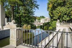 Lazienki Park, Palace on the Water in Warsaw, Poland. Royalty Free Stock Image