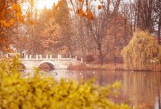 Lazienki Park  in Warsaw Royalty Free Stock Images