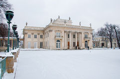 Lazienki Park in winter Royalty Free Stock Images