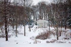 Lazienki Park in winter Royalty Free Stock Photo