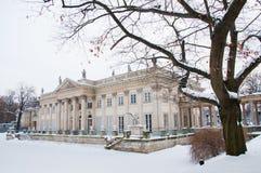 Lazienki Park in winter Stock Photo