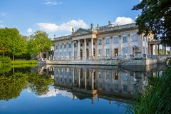 Lazienki or Royal Baths park. In Warsaw in Poland stock photography