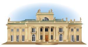 Lazienki Royal Palace in Warshau Stock Foto's