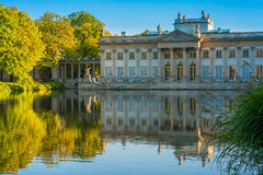 Lazienki slott, Warszawa, Polen Arkivfoton