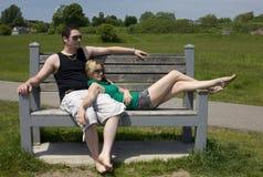 Lazin en una tarde de los veranos imagen de archivo