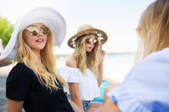 Laziness with friends Royalty Free Stock Images