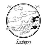 The laziness sin Royalty Free Stock Images