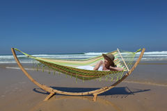 Lazing on hammock Royalty Free Stock Images