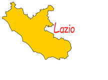 Lazio region map Stock Image