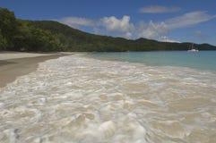 Lazio van Anse strand, Praslin Stock Afbeelding