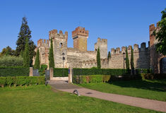 Lazise castle on Lake Garda Stock Photo