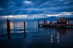 Lazise, Garda Lake, Italy. View of a small pier in Lazise, Garda Lake, Italy Stock Photography