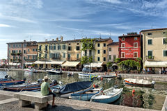 Lazise harbor on Lake Garda - Italy Royalty Free Stock Photos