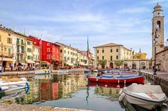 Lazise, Lago di Garda, Италия Стоковые Изображения RF