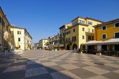 Lazise market sqare on Lake Garda. In Italy Royalty Free Stock Photography