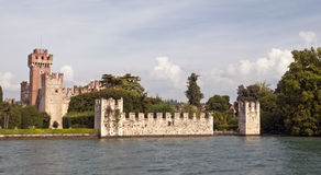 Lazise, Scaliger castle (Castello scaligero), Lake Garda, Veneto, Italy, Europe Royalty Free Stock Photography