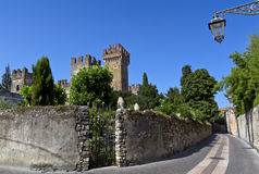 Lazise, Scaliger castle (Castello scaligero), Lake Garda, Veneto, Italy, Europe. Royalty Free Stock Photos