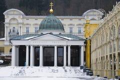 Lazne di Marianske, la colonnato principale immagine stock libera da diritti