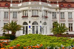 Lazne V, SPA 5, Karlovy Vary in autumn. SPA 5, Alzbetiny Lazne, Elizabeth Baths - Picture of Alzbetiny Lazne. Czech Republic, SPA Town Karlovy Vary, October 2017 royalty free stock photo