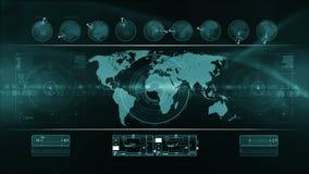 LAZO abstracto del fondo de la tecnología almacen de video