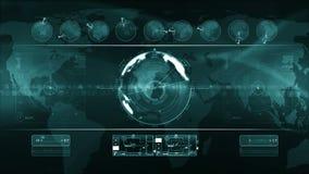 LAZO abstracto del fondo de la tecnología ilustración del vector