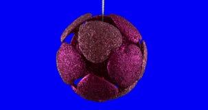 Lazo aislado bola de la Navidad almacen de video