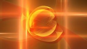 Lazo anaranjado de giro abstracto de los anillos libre illustration