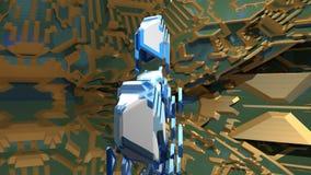 Lazo animado del fractal 3D almacen de metraje de vídeo