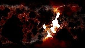 Lazo ardiente abstracto del decaimiento de la nube stock de ilustración