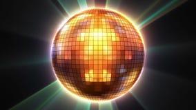 lazo brillante de la bola de discoteca 3d ilustración del vector