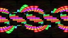 Lazo colorido del vj del fondo de la rejilla de la luz de la pared de la sala de baile del club nocturno del disco de 360 VR stock de ilustración