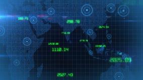 Lazo común financiero del fondo de los datos del mundo corporativo de los datos del negocio almacen de video