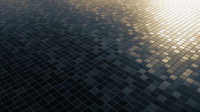 Lazo cuadrado del fondo del modelo del mosaico almacen de metraje de vídeo
