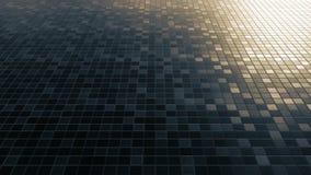 Lazo cuadrado metálico del fondo del modelo del mosaico metrajes