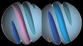 Lazo de desarrollo del alambre del marco de la rebanada de la forma colorida de la esfera almacen de metraje de vídeo