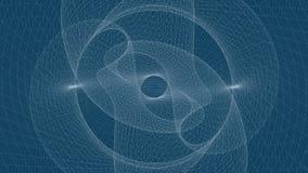 Lazo de desarrollo flotante superficial de la esfera del marco del alambre almacen de video