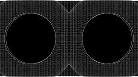 Lazo de desarrollo superficial blanco y negro del marco del alambre almacen de metraje de vídeo
